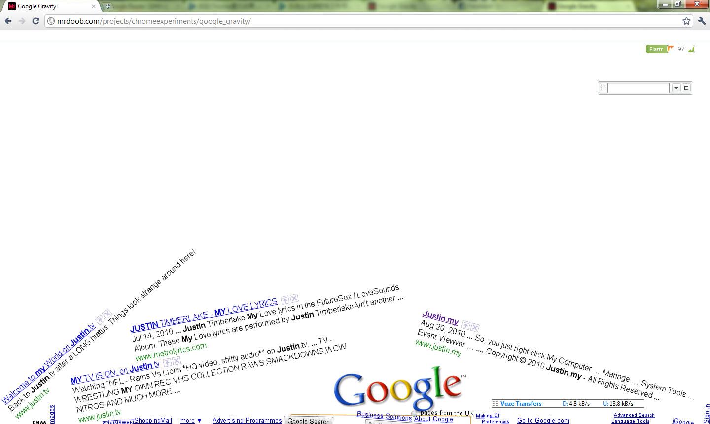 Google Gravity – Feel the Gravity from Google