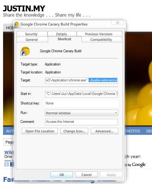 Why My Google Chrome Canary cannot run ? – Justin my