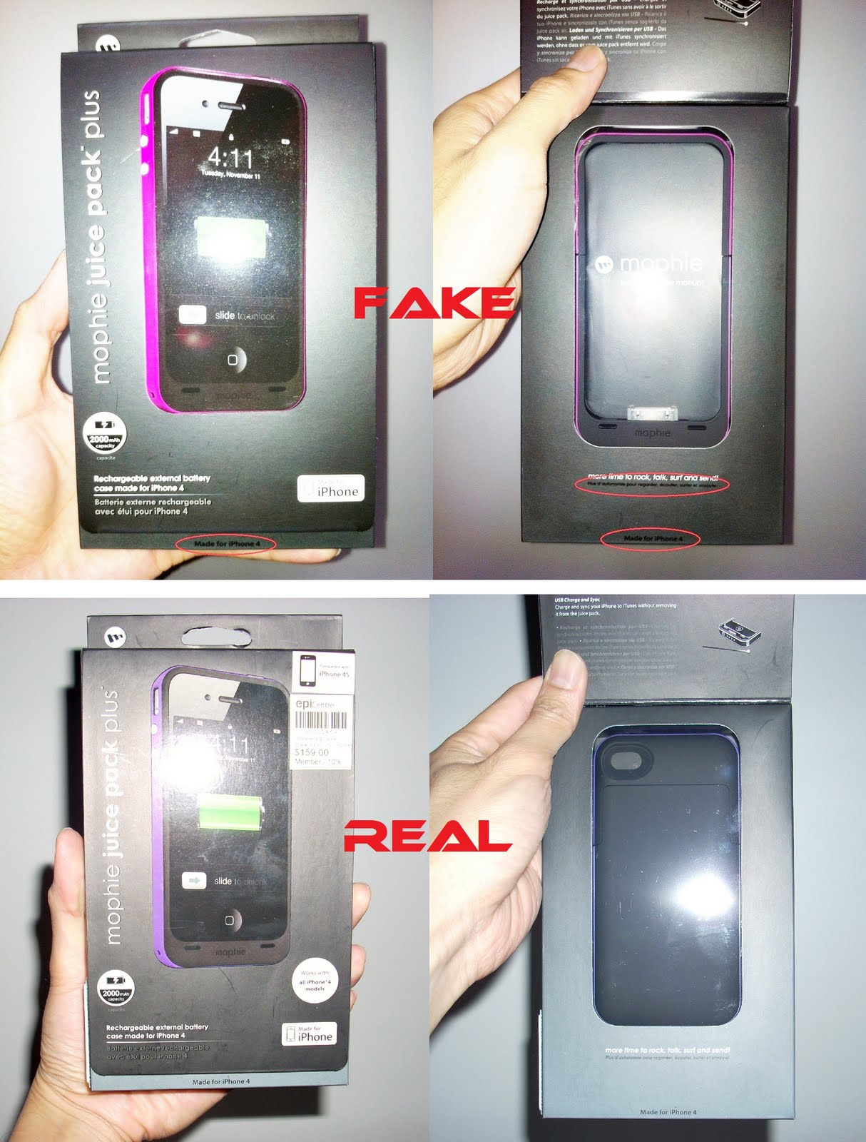 outlet store 3dc37 16357 Fake Mophie Juice Pack Plus for iPhone 4 / 4S in the Market – Justin.my