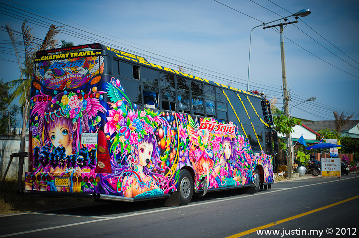 Colorful Cartoon Bus