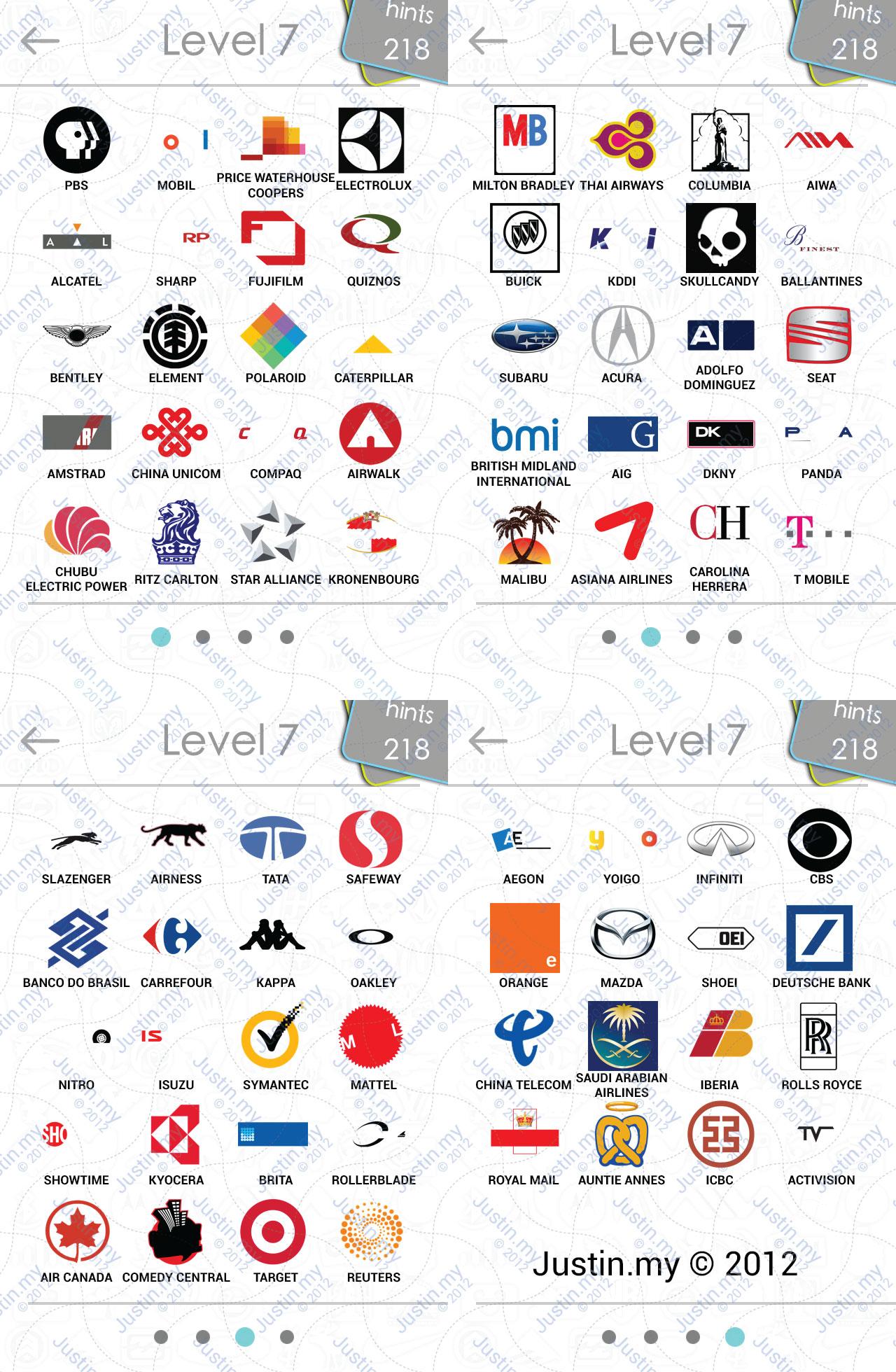 logos quiz answers � page 7 � justinmy