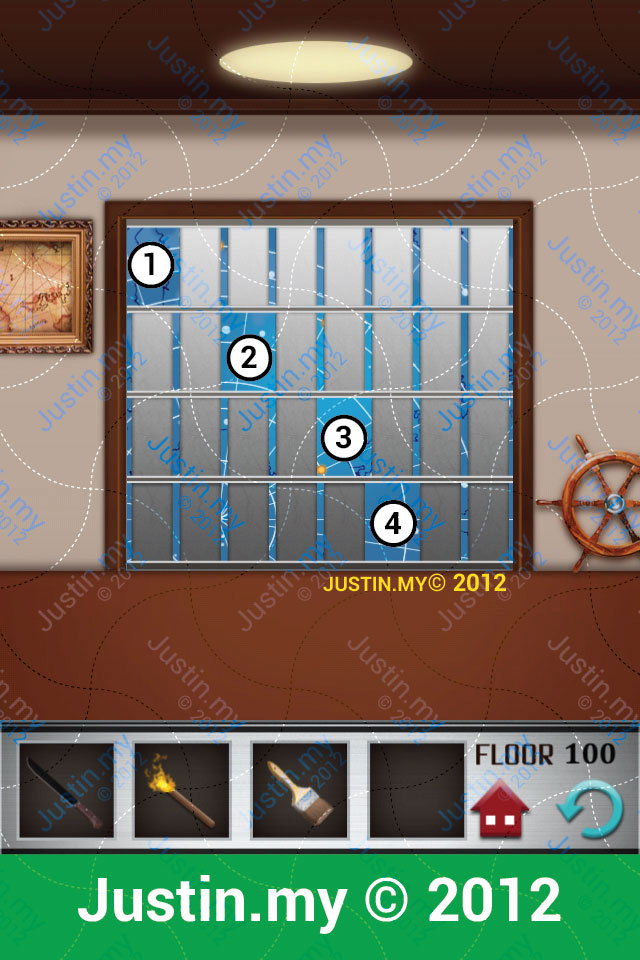 100 floors walkthrough page 100