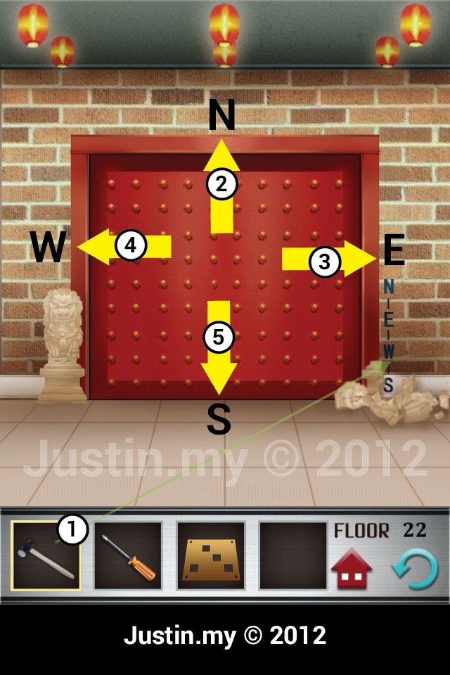 100 Floors Walkthrough Page 22 Justin My
