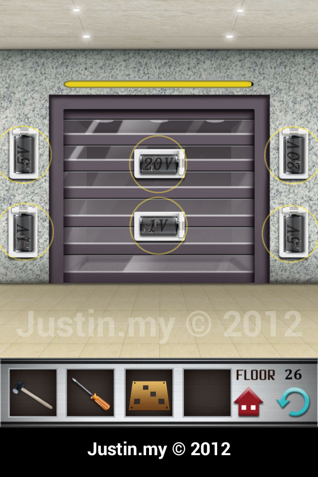 100 Floors Walkthrough Page 26 Justin My