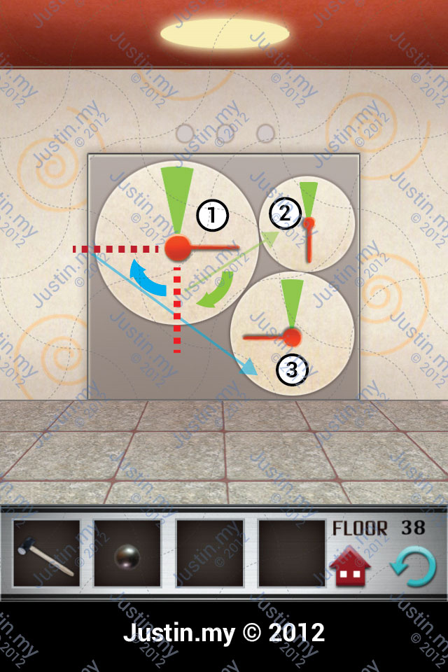 100 Floors Walkthrough Page 38 Justin My