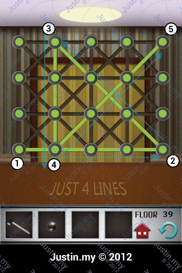 100 Floors Walkthrough Page 39 Justin My