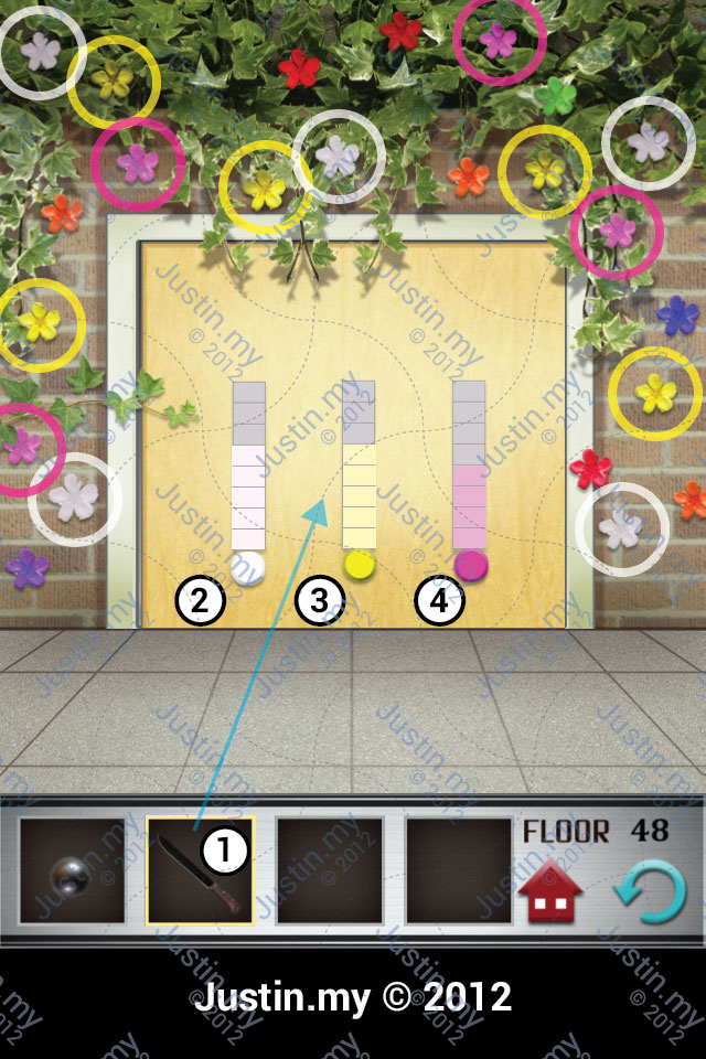 100 Floors Walkthrough Page 48 Justin My