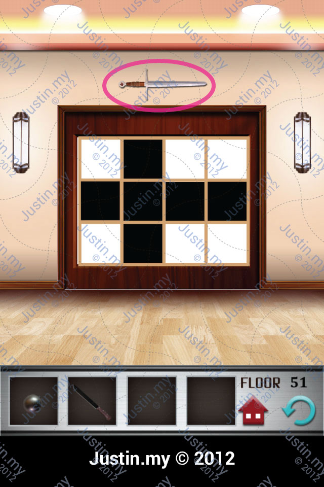 100 Floors Walkthrough Page 51 Justin My