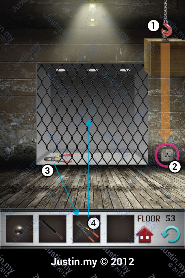 100 Floors Walkthrough Page 53 Justin My