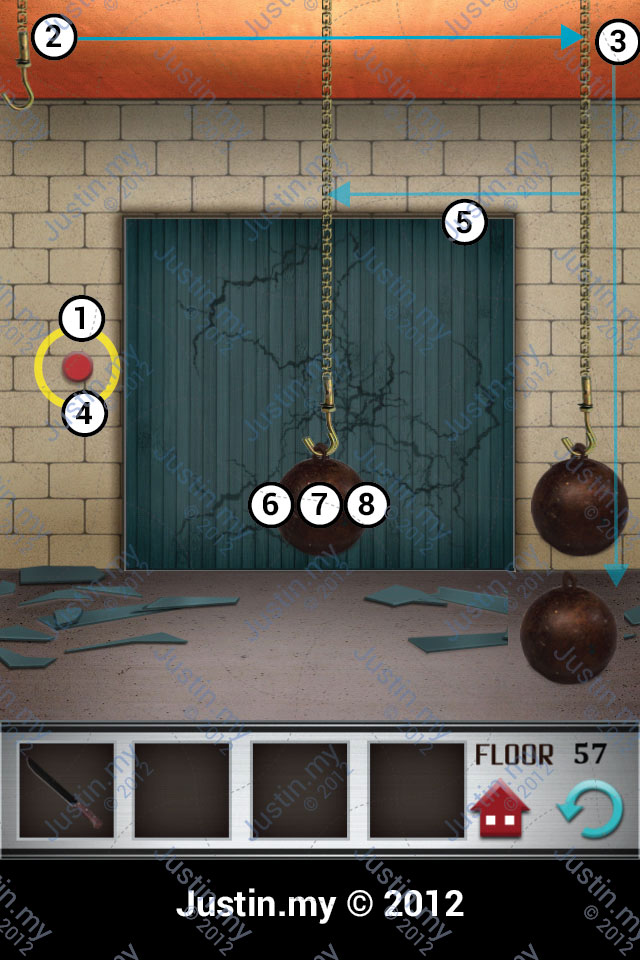 100 Floors Walkthrough Page 57 Justin My