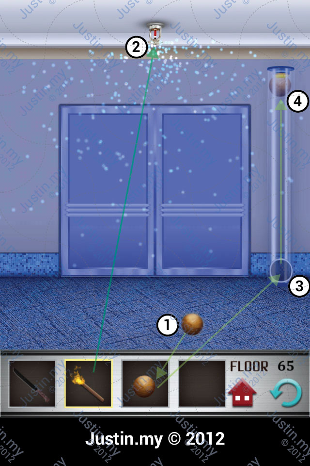 100 Floors Walkthrough Page 65 Justin My