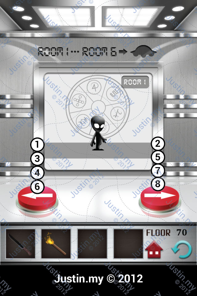 100 Floors Walkthrough Page 70 Justin My