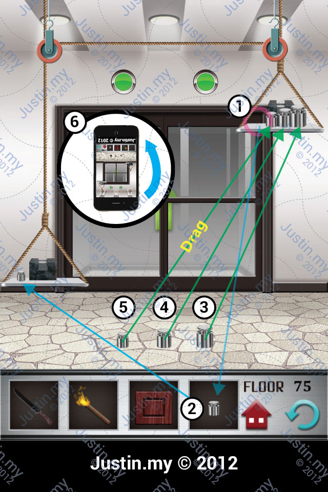 100 Floors Walkthrough Page 75 Justin My
