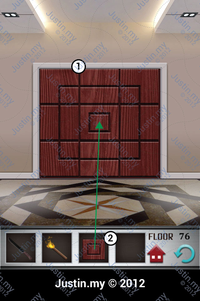 100 Floors Walkthrough Page 76 Justin My