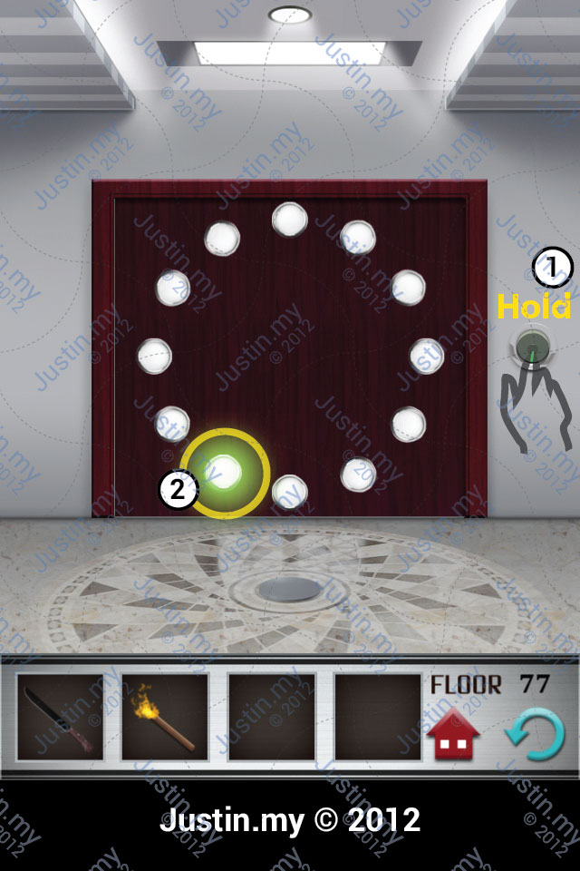 100 Floors Walkthrough Page 77 Justin My