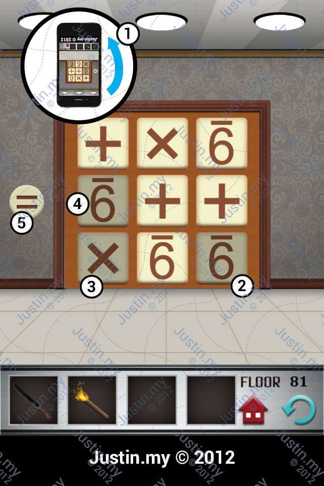 100 Floors Walkthrough Page 81 Justin My