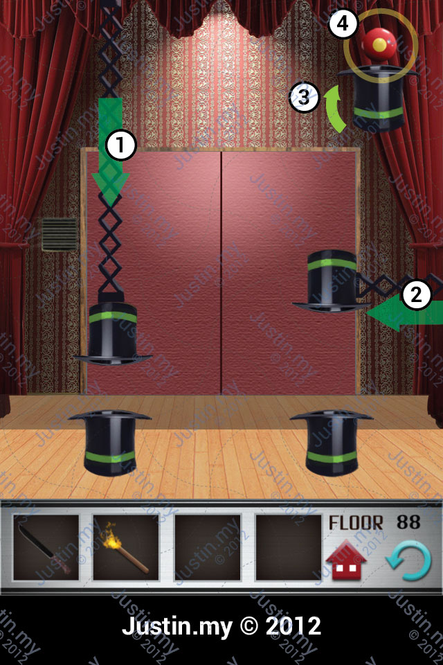 100 Floors Walkthrough Page 88 Justin My