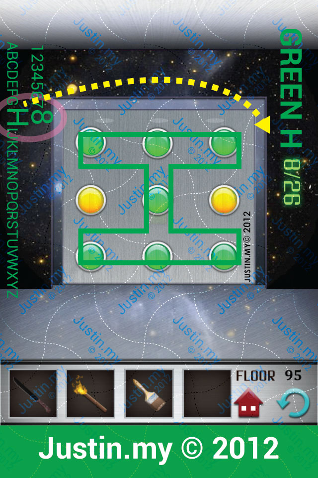 100 Floors Walkthrough Page 95 Justin My