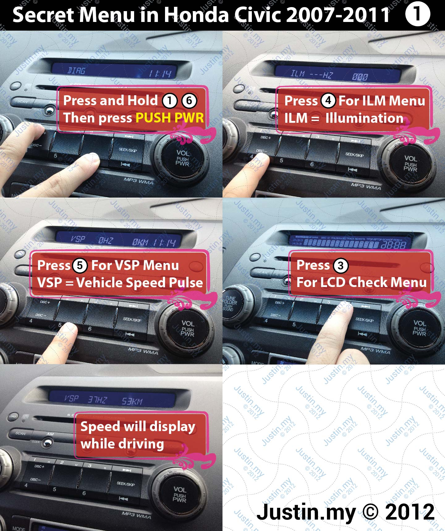 How To Enter Honda Radio Code Hyundai Getz Radio Code