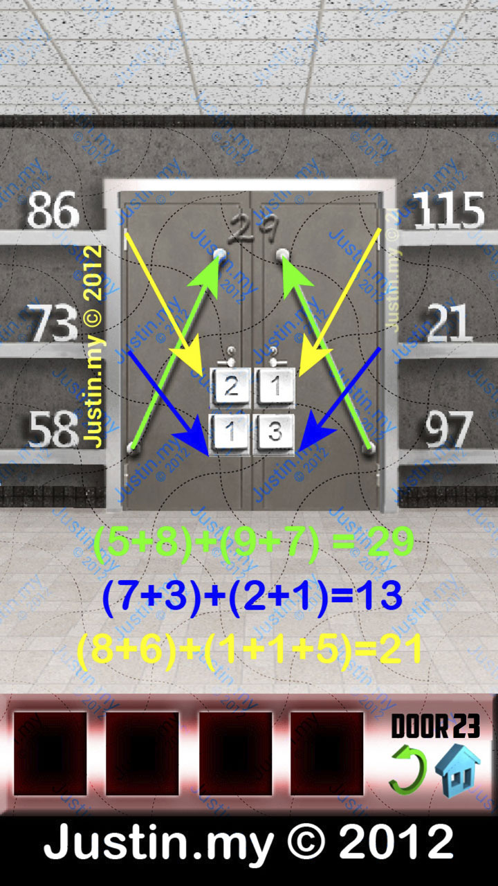 100 doors x walkthrough for iphone ipad ipod page 23 for 100 doors door 23