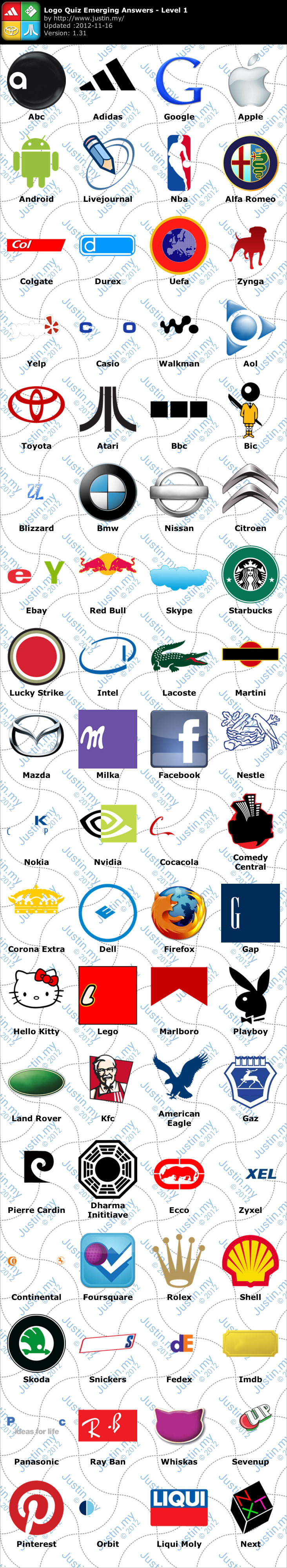Logo Quiz Emerging Games Answers – Page 10 – Justin my
