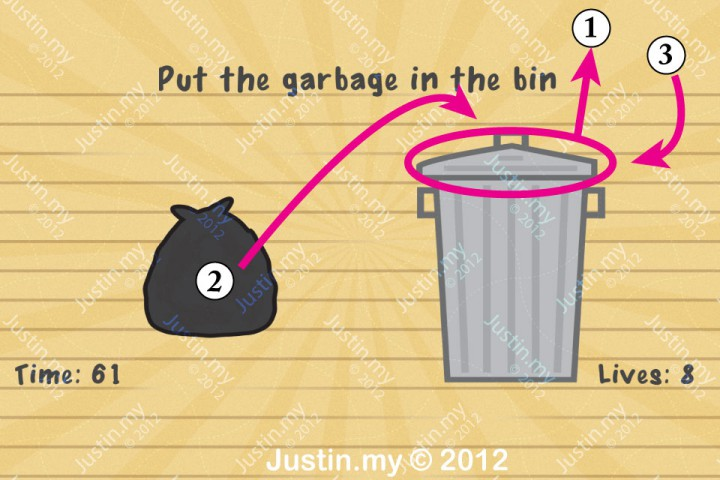 Impssible Test 2 - Put the garbage in the bin