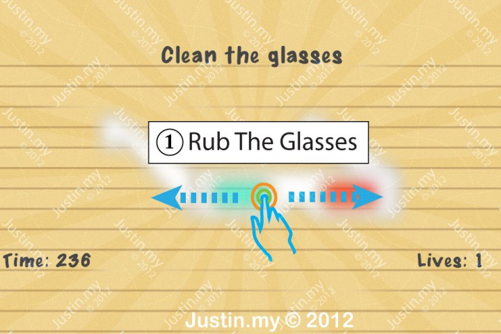 Impssible Test 2 - clean the glasses