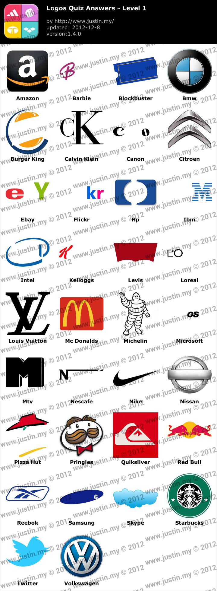 Logos Quiz Level 1