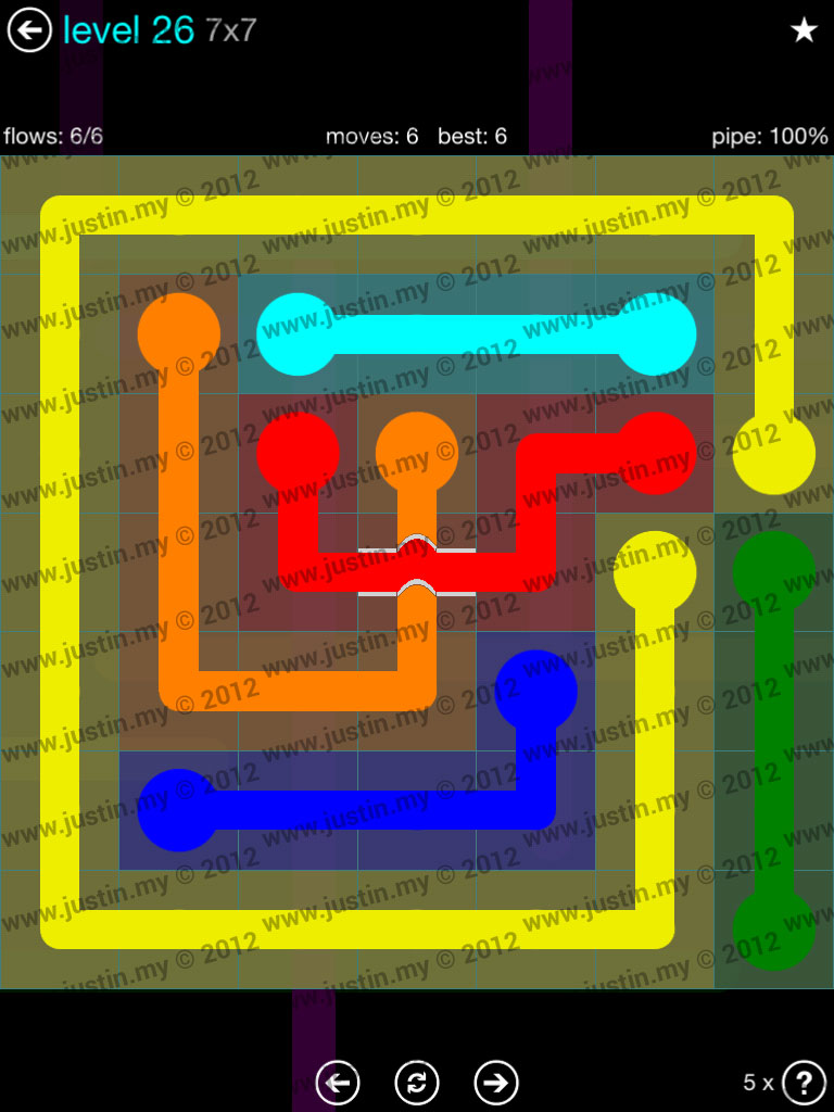 Flow Bridges 7x7 Mania  Level 26