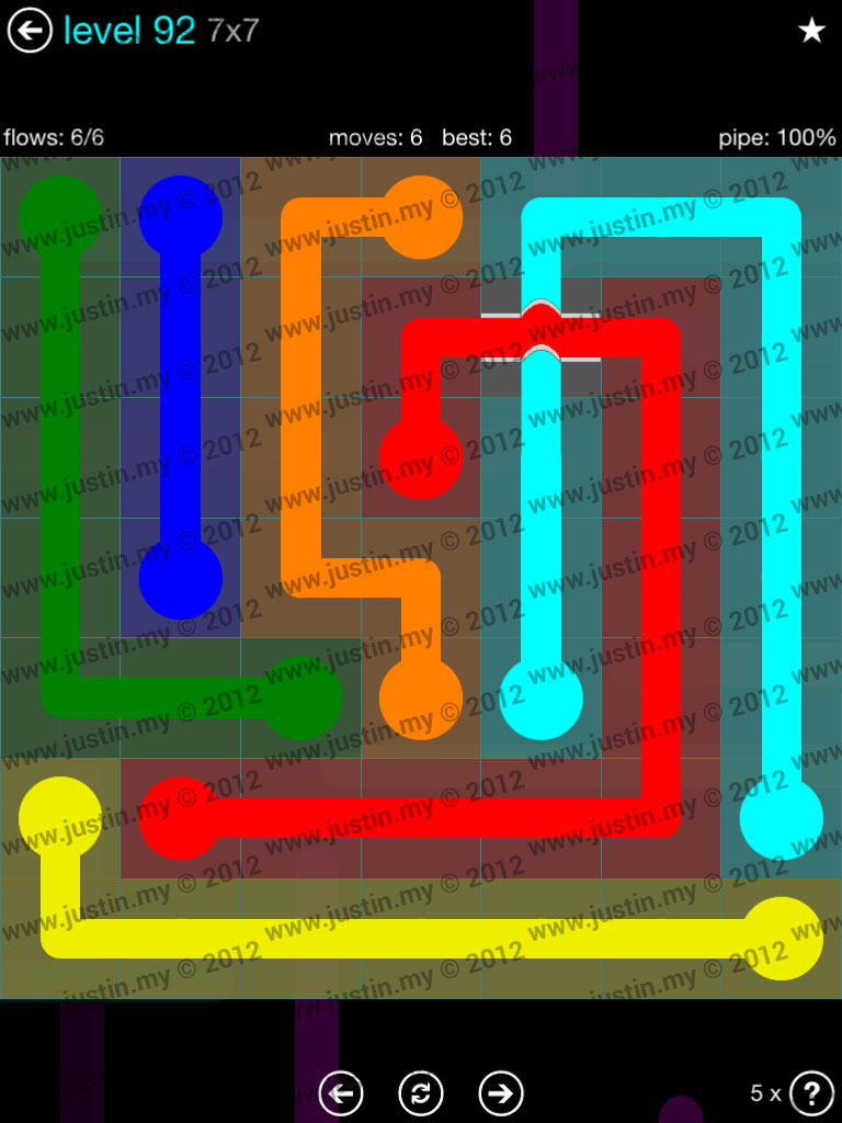 Flow Bridges 7x7 Mania  Level 92