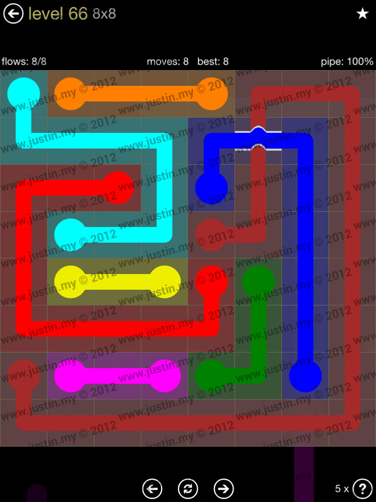 Flow Bridges 8x8 Mania Level 66