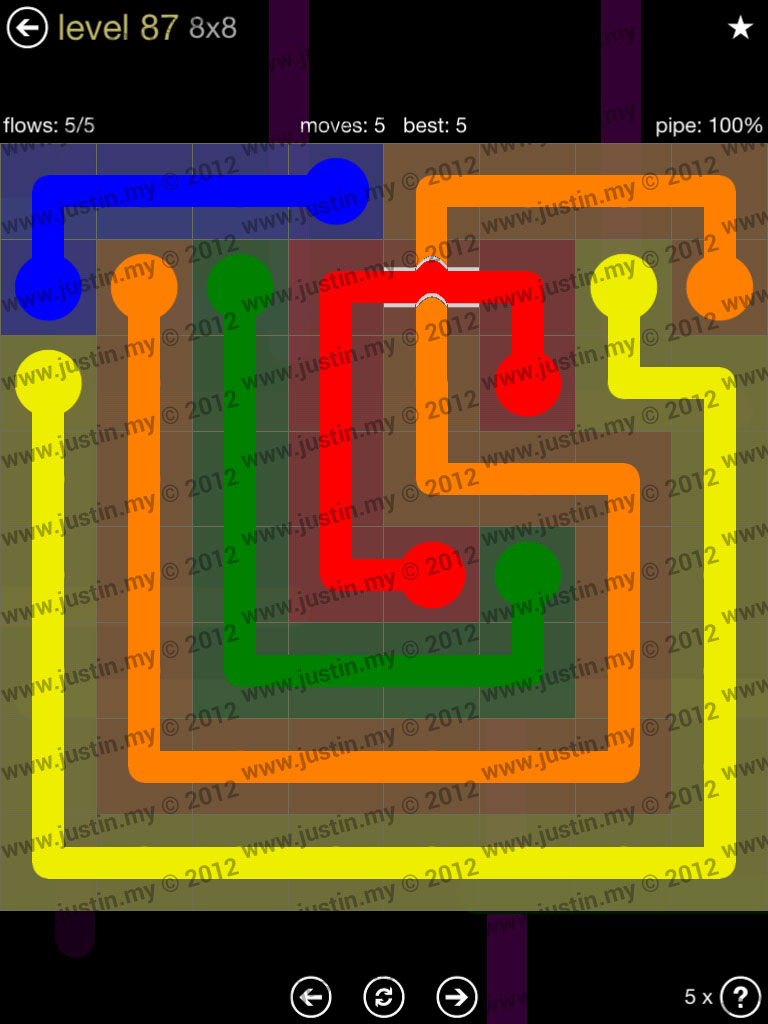 Flow Bridges 8x8 Mania Level 87