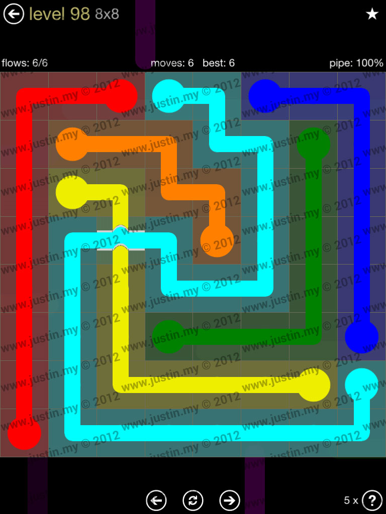 Flow Bridges 8x8 Mania Level 98