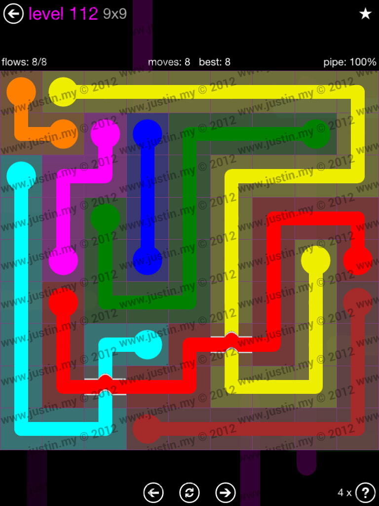 Flow Bridges 9x9 Mania Level 112