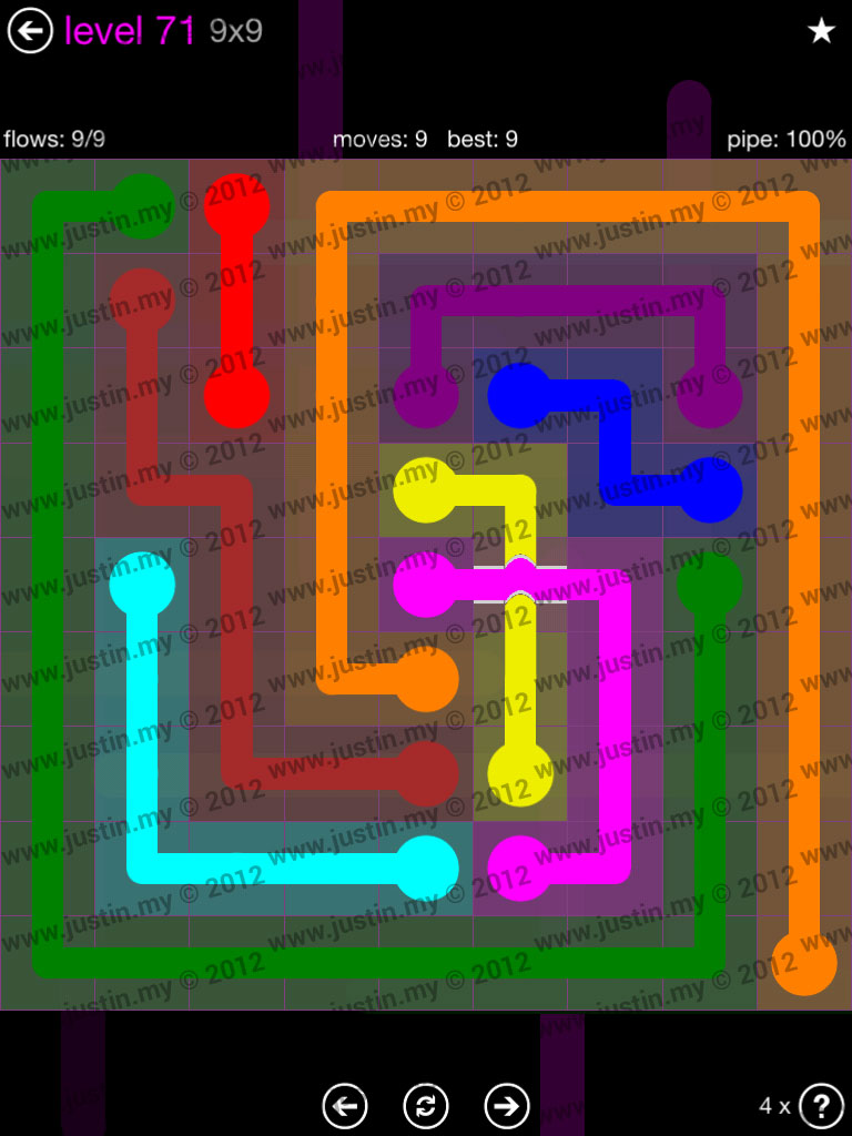 Flow Bridges 9x9 Mania Level 71