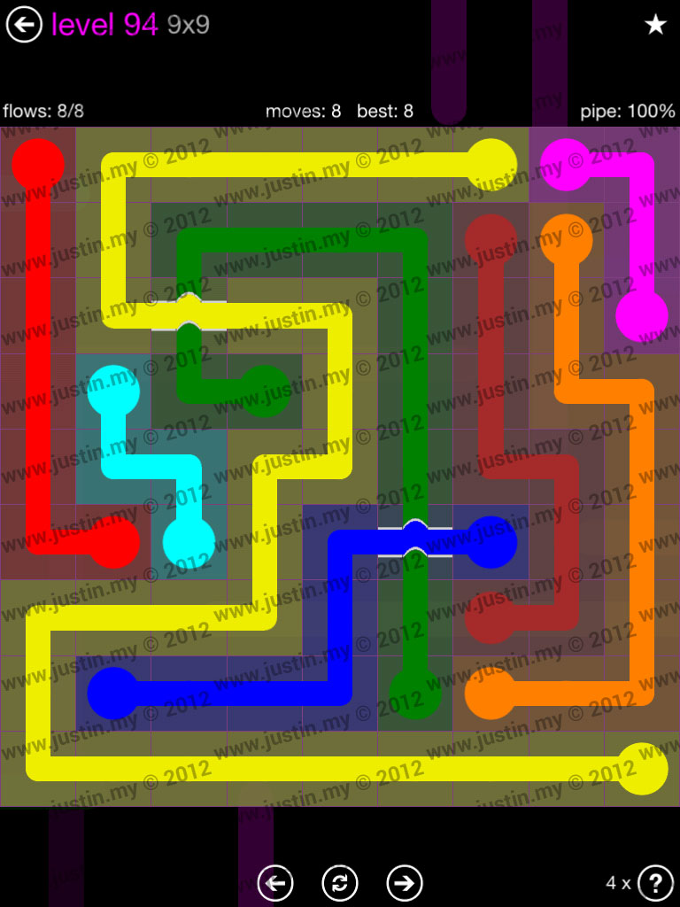 Flow Bridges 9x9 Mania Level 94