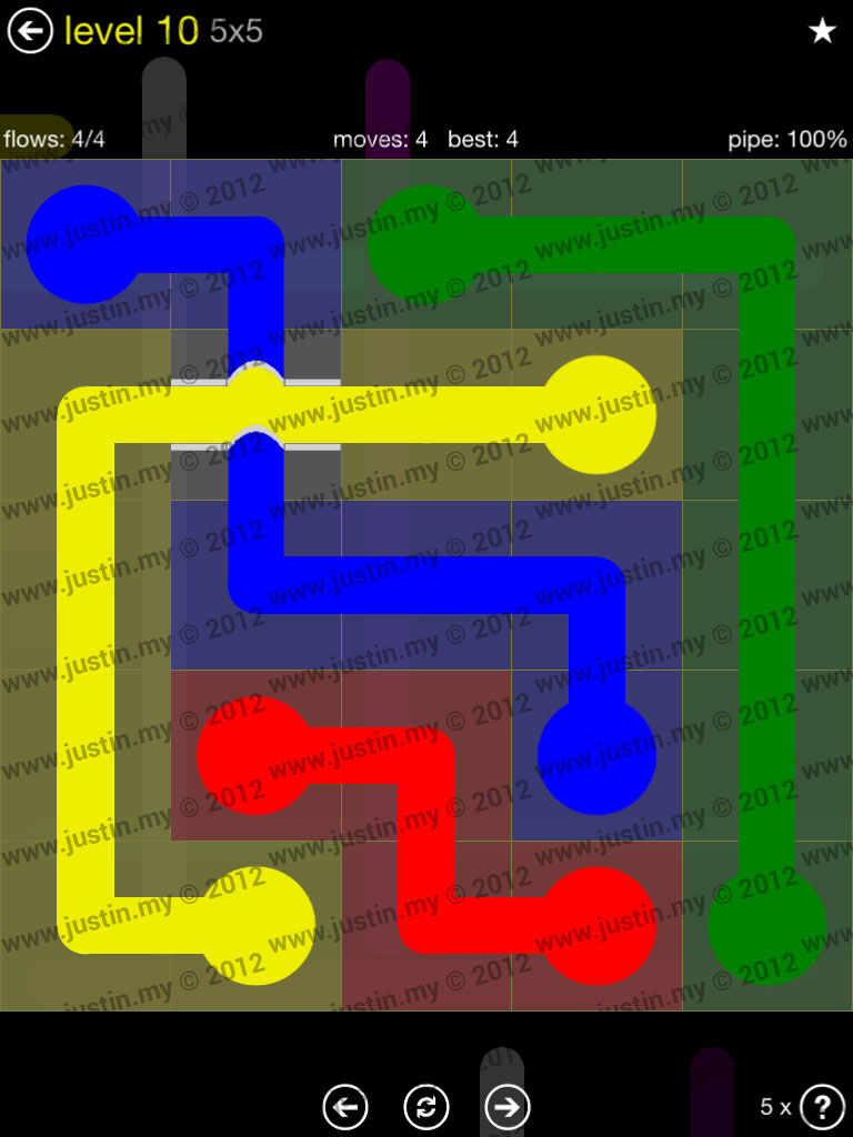 Flow Bridges 5x5 Level 10