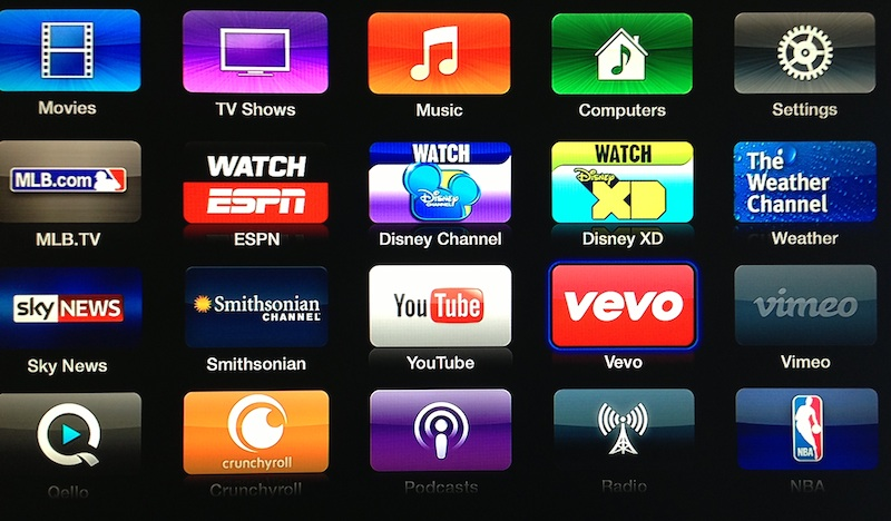 Apple Tv Update Vevo Disney Weather Channel
