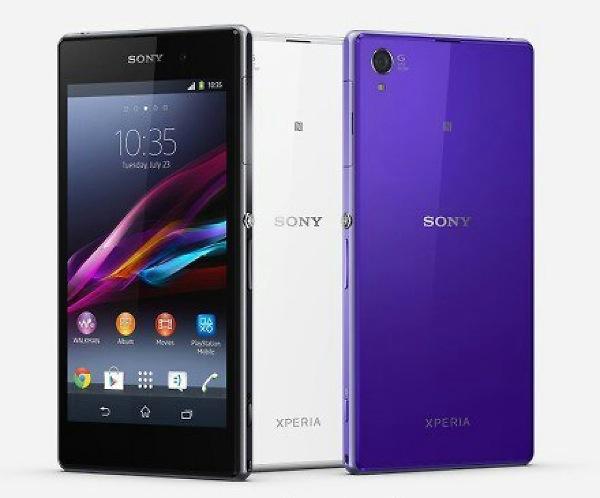 Sony Xperia Z1 press image in black, white and purple