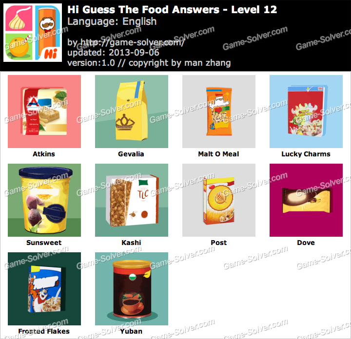 Hi Guess The Food Answers Restaurant